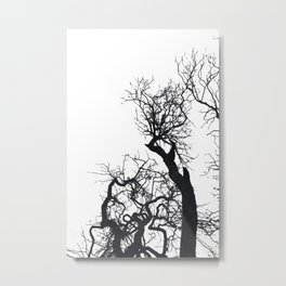 Black tree branches silhouette #3 Metal Print