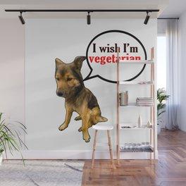 Funny Vegetarian - Funny Dog Meme Wall Mural