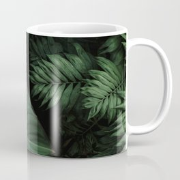 Tropical Beauty // Tropical Boho Leaves meets Minimalist Patterns Coffee Mug