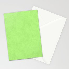 Speckled Texture - Pastel Apple Green Stationery Cards