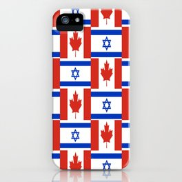 Mix of flag: canada and israel iPhone Case