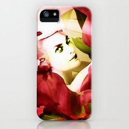 """""""Exotic Woman Tropical Jungle"""" iPhone Case"""