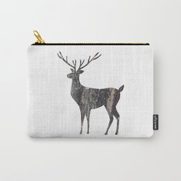 deer silhouette stag black bark with lichen Carry-All Pouch
