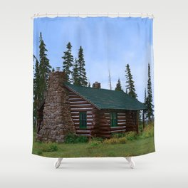 Let's Go Camping! Shower Curtain