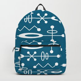 Mid Century Modern Radioactive Surfer 251 Peacock Blue Backpack