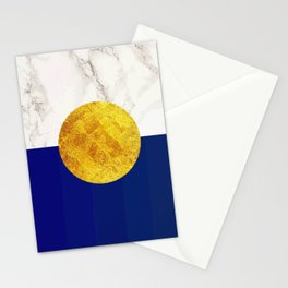 Navy blue with white marble #society6 Stationery Cards