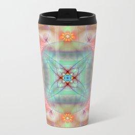 Fractal Art- Mint Art-Coral Art- Juorbin- Sacred Geometry Travel Mug