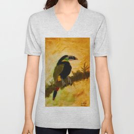 spot billed toucanet Unisex V-Neck