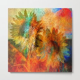 sunflower vintage Metal Print