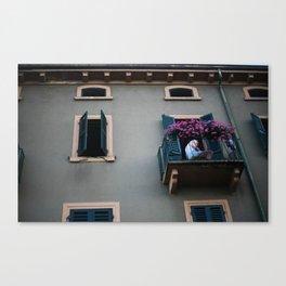 Balcone. Peschiera del Garda. Canvas Print