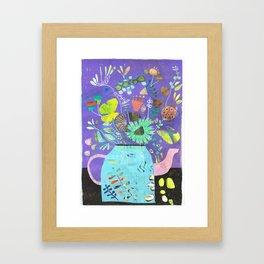 coffeepotflower Framed Art Print