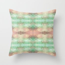 Mozaic design in soft pastel colors Throw Pillow