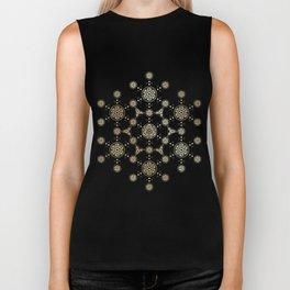 molecule of life. sacred geometry. alien crop circle Biker Tank