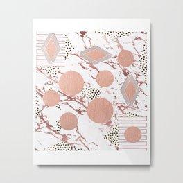 Rose Gold Collage Metal Print
