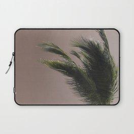 Nude Beach - A photograph of a palm tree against a peach sky Laptop Sleeve