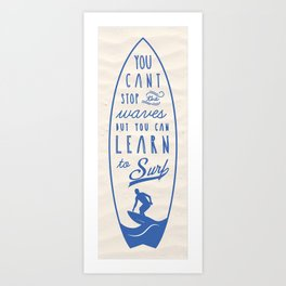 Learn to Surf Art Print