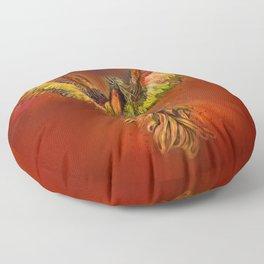 Phoenix Rising - red sky Floor Pillow