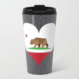 California Love, Gray Isometric Weave Travel Mug
