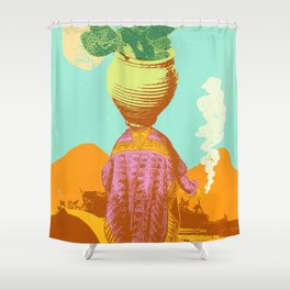 DESERT SHAMAN Shower Curtain