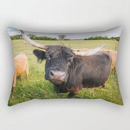 Highland Cow - Head Tilt Rectangular Pillow