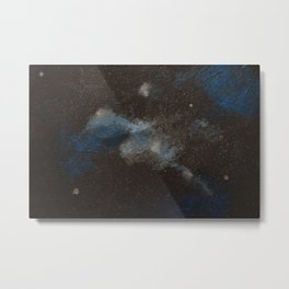 Blue and Silver Galaxy Metal Print