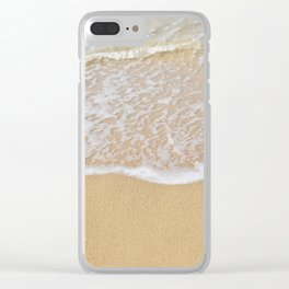 Beautiful wave surfing on a sandy beach Clear iPhone Case