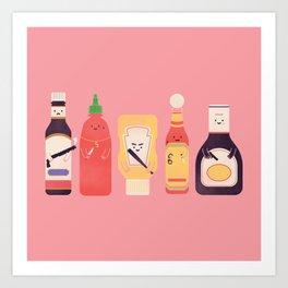 Ex-Condiments Art Print