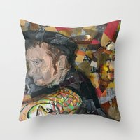 patrick Throw Pillows featuring patrick by rAr : Art by Robyn Ashley Rosner