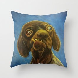 Dogface Throw Pillow