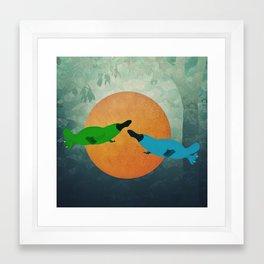 Platypus Love Framed Art Print