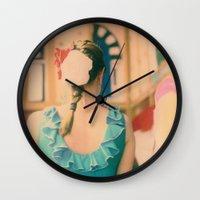dance Wall Clocks featuring Dance by Sébastien BOUVIER