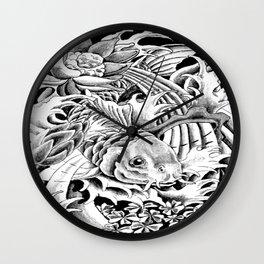 Koi Splash Tattoo Leggings Wall Clock