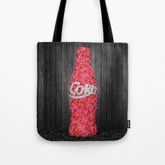 Flower Coke Tote Bag