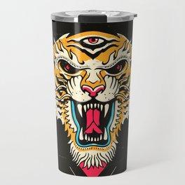 Tiger 3 Eyes Travel Mug