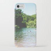 swim iPhone & iPod Cases featuring Swim by Christine Hall