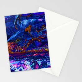 Mikhail Vrubel Blue Fallen Demon Stationery Cards
