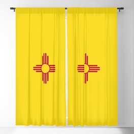 New Mexico Flag Blackout Curtain