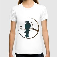 crow T-shirts featuring crow by voskovski
