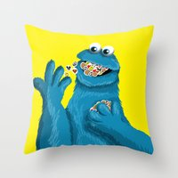 pills Throw Pillows featuring Pills, Pills, Pills!!! by Fransisqo82
