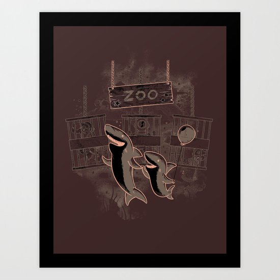 shark zoo Art Print