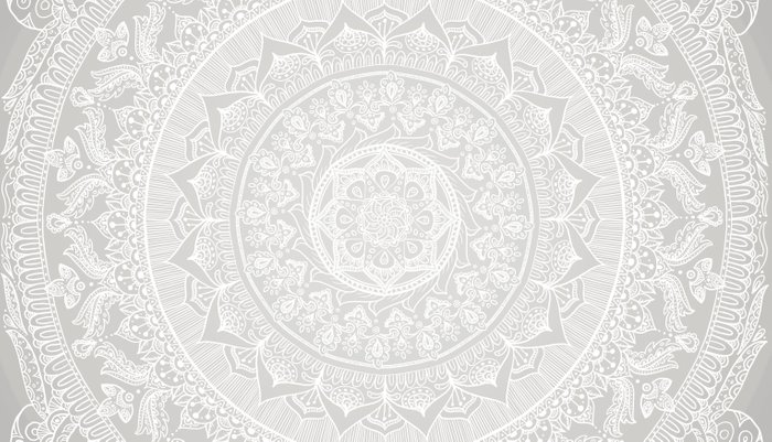 Mandala Soft Gray Pillow Sham