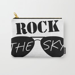 Rock the Sky Aviator Glasses Logo Carry-All Pouch