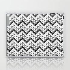 Chevron Facet Black & White Laptop & iPad Skin