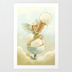 Goblins Drool, Fairies Rule! - Vanilla Scoop Art Print