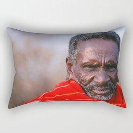African Maasai Elder Rectangular Pillow
