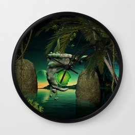 The flying rock with clock Wall Clock