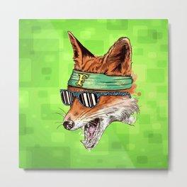 HIPSTER FOX Metal Print