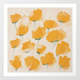 The Yellow Flowers Art Print