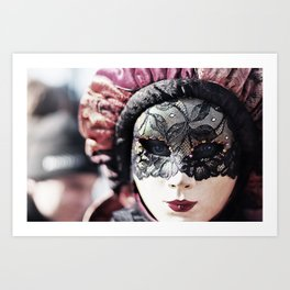 Italy Venice Mask 4 woman Art Print