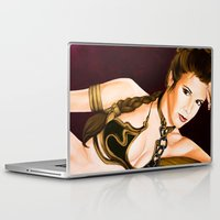 leia Laptop & iPad Skins featuring Slave Leia  by Rexifist Art